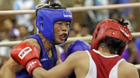 Boxer MC Mary Kom selected for Asian Games 2014 during selection trials at SAI NSNIS in Patiala on Wednesday, August 27 2014. Express photo by Jasbir Malhi