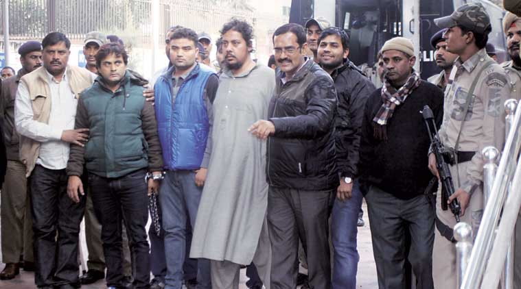 AQIS suspects Asif, Rehman have been sent to police custody for 12 days. (Express Photo by: Purushottam Sharma)