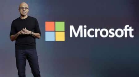 Microsoft, Microsoft CEO, satya nadella, Artificial Intelligence, (AI)-powered bots, HP, Global Partner Conference, interface, microsoft-HP, new interface, tech news, indian express