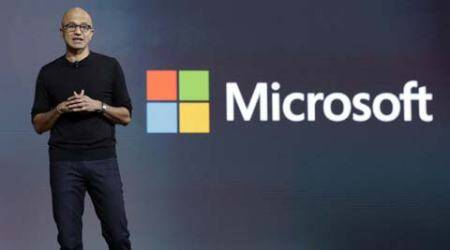 Microsoft, Microsoft CEO, satya nadella, Artificial Intelligence, (AI)-powered bots, HP, Global Partner Conference, interface, microsoft-HP, new interface, tech news, indian express