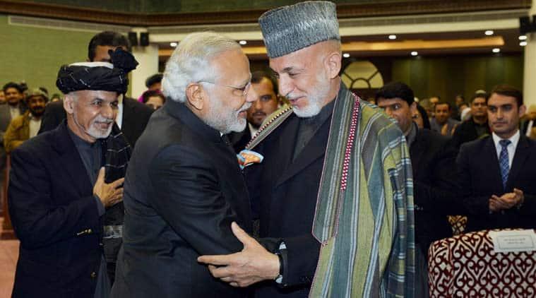 narendra modi, Ashraf ghani, modi in kabul, modi ghani meeting, india afghanistan deals, modi in afghanistan, modi opens afghan parliament, vajpayee block , new afghan parliament , modii address afghan parliament, india news, afghanistan news, modi in kabul news, latest news