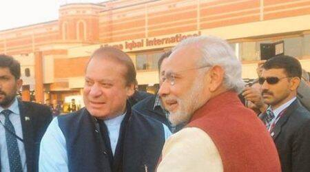 Modi in pakistan, modi sharif meeting, modi visit pakistan, modi meets nawaz sharif, modi hand in hand, modi hold hand of nawaz sharif, terrorism in india, pakistan terrorists, dawood abrahim, latest update in modi visit