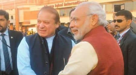 PM Modi lands in Lahore on a surprise visit, meets Pak PM Nawaz Sharif