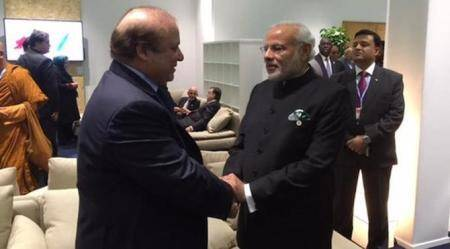 A Moment In Paris: Narendra Modi Meets Nawaz Sharif At UN Climate Summit