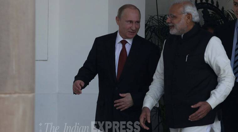 putin, modi, india news, indian express news