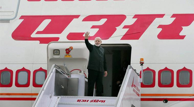 New Delhi: Prime Minister Narendra Modi at AFS Palam in New Delhi on Wednesday before his departure for Moscow, Russia . PTI Photo by Shahbaz Khan(PTI12_23_2015_000026A)