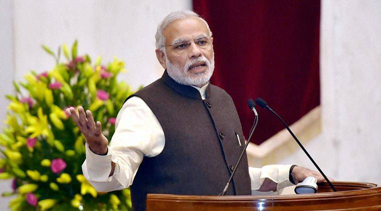 Narendra Modi is the first PM whose state campaign speeches are covered live by TV. (Source: PTI)