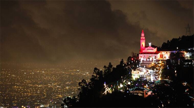 File photo of a general view of illuminated Christmas decorations at Monserrate church in Bogota December 19, 2011. (Source: Reuters)