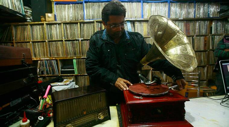 Anuj Rajpal's New Gramophone House in Chandni Chowk in Delhi stocks records and gramophones. (Photo: Praveen Khanna)