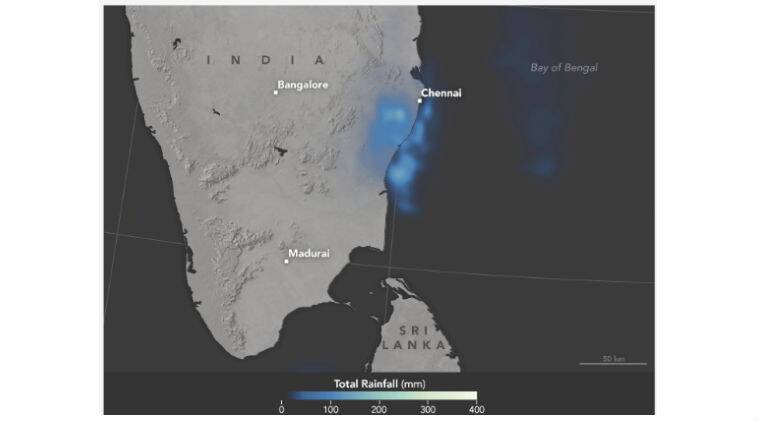 Chennai, NASA, Chennai rains, Chennai floods, Chennai NASA, Chennai rainfall, Chennai map, Chennai NASA map, Chennai monsoon, science, technology, technology news