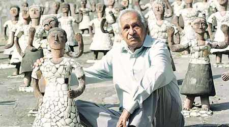 'Nek Chand used art  as a language of global communication'