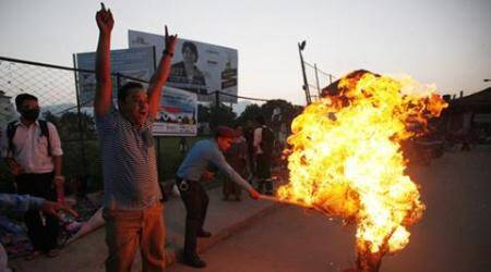 nepal protest, nepal blockade, nepal madhesi protest, nepal new constitution protest, nepal unrest, nepal india border protest, nepal news, latest news, world news