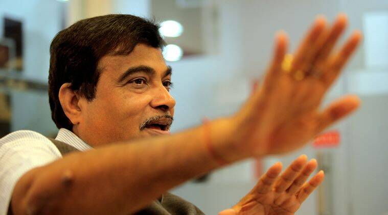 Nitin Gadkari, Union Minister of Road Transport and Highways, at the Indian Express Idea Exchange in New Delhi on March 26th 2015. Express photo by Ravi Kanojia.