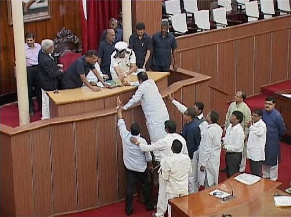 The Bill was passed in absence of opposition Congress members who protested rejection of some of their amendments