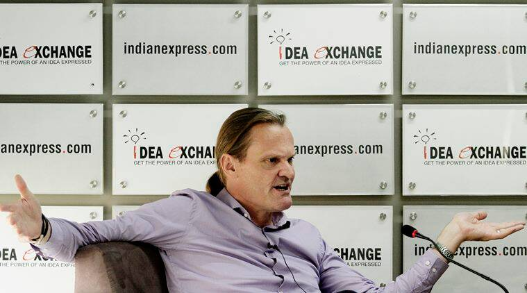 Onno Ruhl, Country Director, World Bank India during Idea Exchange. EXPRESS PHOTO BY PRAVEEN KHANNA 20 05 2015. Noida.