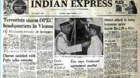 Indian Express, Indian Express front page, Indian Express newpaper