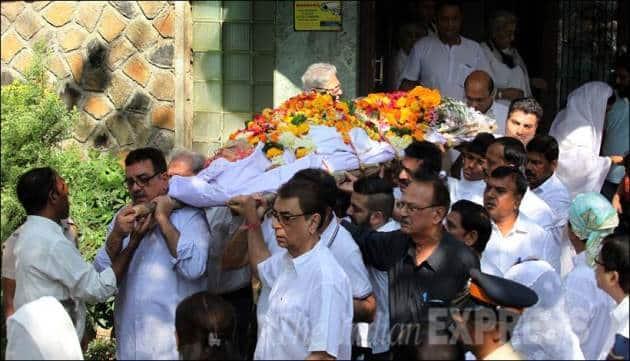 Sadhana, Sadhana Death, Sadhana Funeral