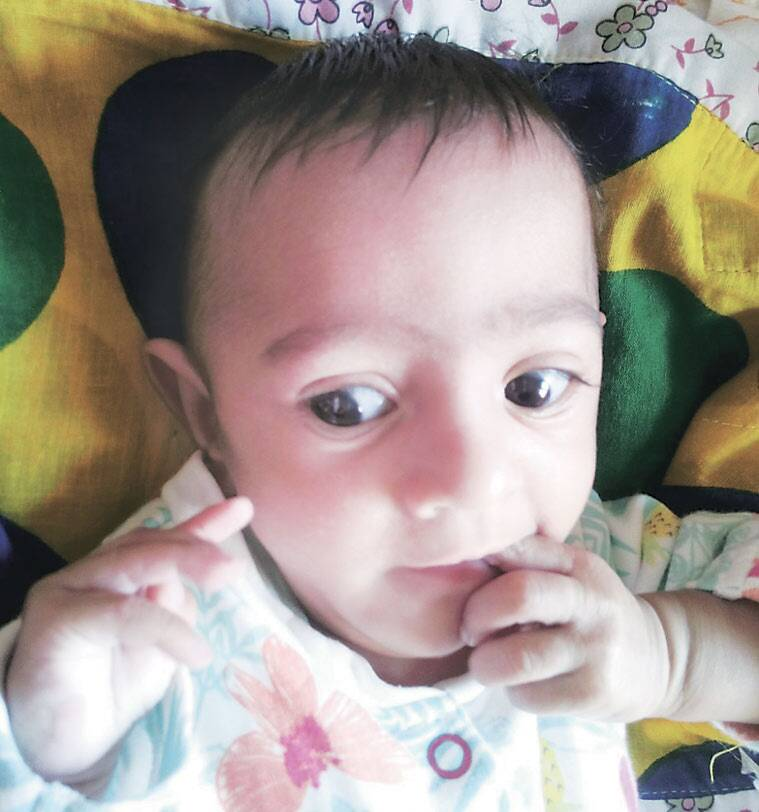 Sakshi was born on May 5 measuring only 30 centimeters. (Express photo)