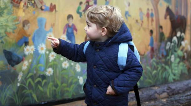 Prince's George first day at school