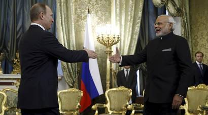 narendra modi, russia, Vladimir putin, modi, modi in Russia, Modi russia visit, Modi Russia trip, Modi putin, india russia deals, modi putin talks, india russia summit, india news, russia news, latest news, modi russia photos, modi putin images, modi russia national anthem,