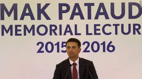 Rahul Dravid, MAK pataudi memorial lecture, MAK pataudi, MAK pataudi lecture, Rahul Dravid new, cricket news, sports news
