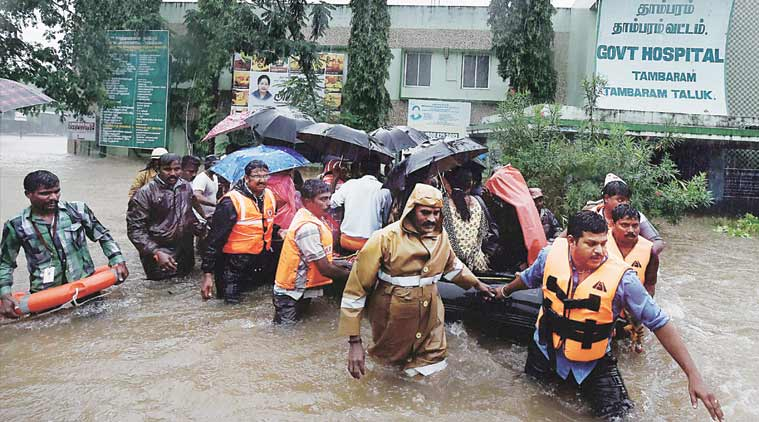 Patients being moved from a Chennai hospital on Tuesday. (Source: PTI)