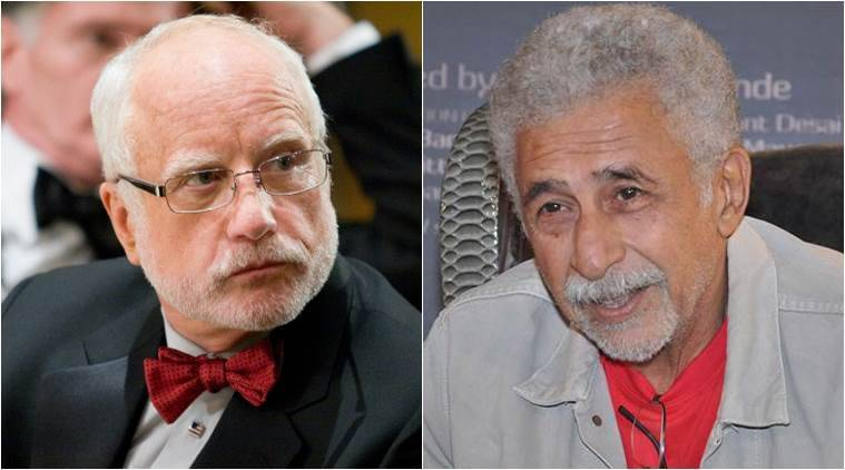 Naseeruddin Shah, Naseeruddin Shah honoured DIFF, Dubai International Film Festival, Richard Dreyfuss, Veteran actor Naseerudin Shah, actor Richard Dreyfuss, Naseeruddin Shah films, Naseeruddin Shah upcoming films, film Waiting, entertainment news