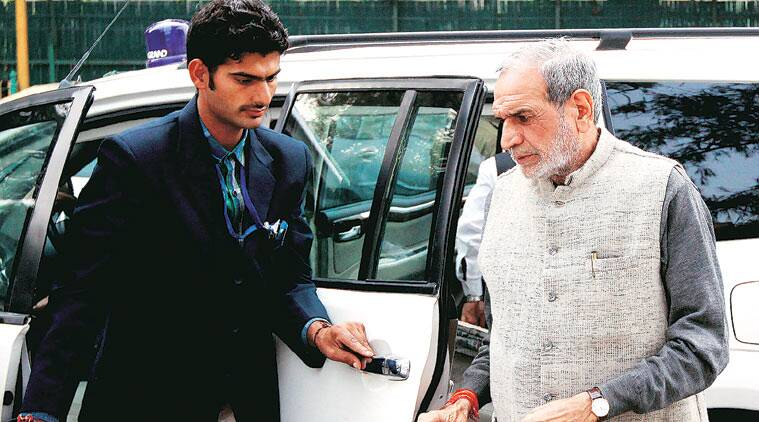 Sajjan Kumar at the Patiala House Court on Tuesday. (Surce: Express photo by Prem Nath Pandey)
