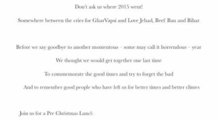Ghar Vapsi, Love Jihad, Beef Ban feature in Salman Khurshid's Christmas Party invitation