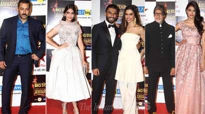 Salman Khan, Sonam Kapoor, Deepika Padukone, Ranveer Singh. Big Star Entertainment awards, Anil Kapoor, Athiya Shetty, Bajrangi Bhaijaan, Big Star Entertainment Awards 2015, Big Star Entertainment Awards 2016, Salman Khan Big Star Entertainment Awards 2015, Anil Kapoor, Madhavan, Saina Nehwal, Saina Deepika, Saina Deepika Big Star Entertainment awards