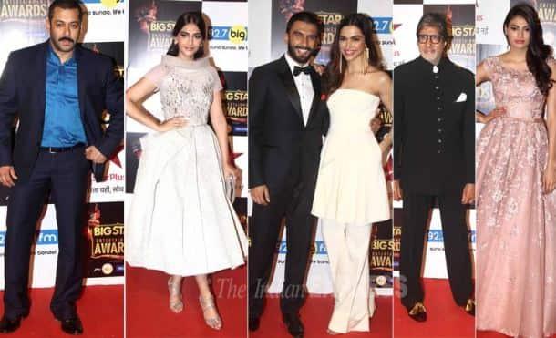 Salman Khan, Amitabh Bachchan, Sonam Kapoor, Deepika Padukone, Raveer Singh, Anil Kapoor, Big Star Entertainment Awards