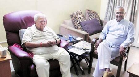 Talks of Joshi's return after his meet with CM Anandiben Patel