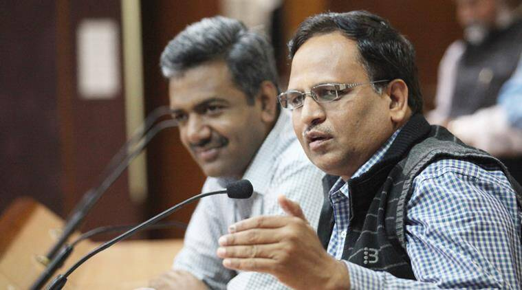 Satyender Jain money laundering case, Satyender Jain CBI interrogation, AAP, Benamy Transactions Prohibitions Act, AAP slams BJP, AAP on CBI's visit to Satyender Jain's residence, indian express news