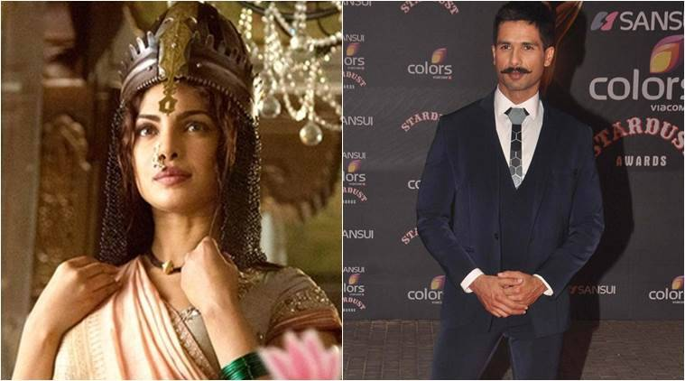 Priyanka Chopra, Shahid Kapoor, Bajirao Mastani, Priyanka Chopra films, Deepika Padukone, Shahid Kapoor films, Priyanka Chopra upcoming films, Priyanka Chopra acting, Vishal Bhardwaj, Rangoon, Saif Ali Khan, Kangana Ranaut, entertainment news