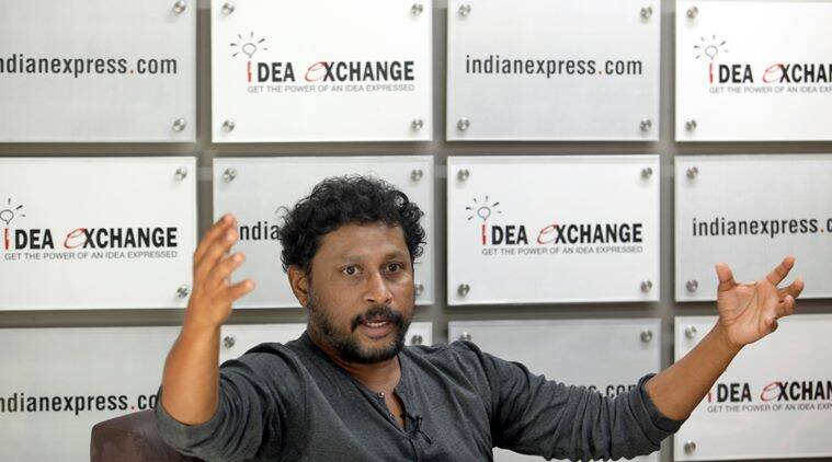 Film producer and director Shoojit Sircar at the Indian Express idea exchange in Noida on June 8th 2015. Express photo by Ravi Kanojia.
