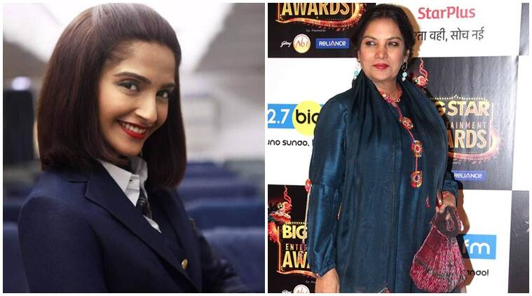Sonam Kapoor, Neerja, Sonam Kapoor Neerja, Shabana Azmi, Sonam Kapoor films, Sonam Kapoor upcoming films, Anil Kapoor, Ram Madhavani film, Neerja trailer, Neerja Bhanot, entertainment news