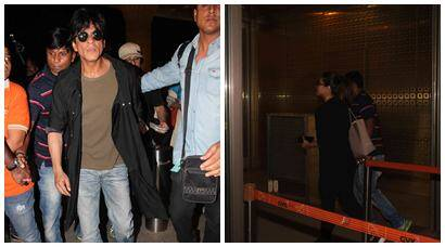 'Dilwale' Shah Rukh Khan, Kajol, Kriti, Varun leave for London