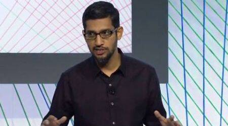 Sundar Pichai, Sundar Pichai meets Narendra modi, Sundar Pichai in Delhi, Google CEO in Delhi, Narendra Modi Sundar Pichai, Narendra Modi, Sundar Pichai event in Delhi, Sundar Pichai in Shree Ram college, Google CEO India visit, Sundar Pichai India visit, Google news, tech news