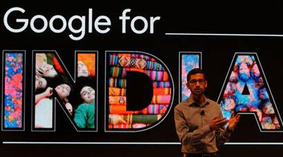 Google CEO in Delhi, Sundar Pichai announcement, Google, Google For India, Sundar Pichai in Delhi, Free Wi-Fi, WiFi in railway stations, WiFi railway stations, Chromebit, Google new campus, New GOogle office, Google Maps, Google Youtube, Google CEO India visit, Sundar Pichai India visit, tech news