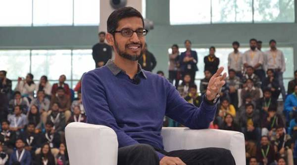 Google, Sundar Pichai, Google CEO, Pichai india, SRCC, Android, Android P, tech news, android news