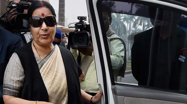 sushma swaraj, sushma swaraj pakistan, swaraj, swaraj in pakistan, swaraj sharif meet, swaraj aziz meet, sushma swaraj pakistan pm, pakistan pm, india news, pakistan news