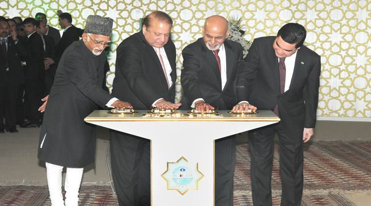 TAPI, TAPI gas pipeline, TAPI gas pipeline deal, gas link to afghanistan pakistan and india, Hamid Ansari, Nawaz Sharif, india power plants, pipeline, TAPI pipeline, TAPI project, TAPI gas pipeline work starts, TAPI work starts, pipeline work starts
