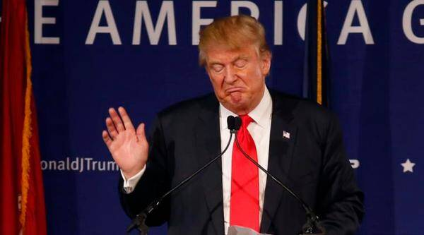 Republican presidential candidate, businessman Donald Trump, speaks during a rally coinciding with Pearl Harbor Day at Patriots Point aboard the aircraft carrier USS Yorktown in Mt. Pleasant, S.C., Monday, Dec. 7, 2015. (AP Photo/Mic Smith)