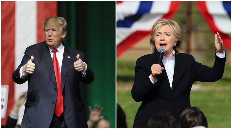 Republican presidential candidate Donald Trump (left) and Hillary Clinton, his democratic rival (AP photo)