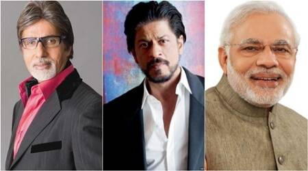 Modi behind Bachchan, SRK on Twitter in 2015