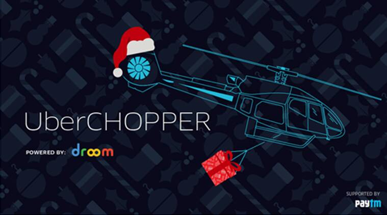 Uber, Ubechopper, Christmas, Chiristmas offers, Uber Christmas offers, Uber chopper ride, Uber helicopter, Uber chopper service cost, Uber, Uber cabs, Paytm, Paytm and Uber, technology, technology news