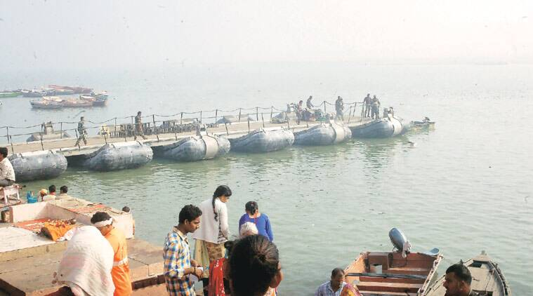 Preparations on in Varanasi for Modi and Abe's visit. (Source: PTI)