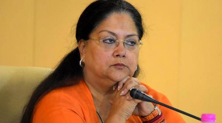 Rajasthan Chief Minister Vasundhara Raje during the 2th meeting of CM Advisory Council at Chief Minister's office in Jaipur on Monday. Express Photo by Rohit Jain Paras. 14.09.2015.