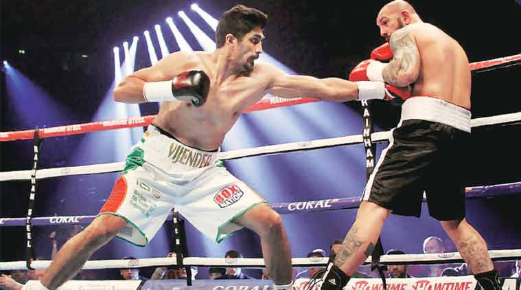 Vijender Singh says he isn't fighting tin-can opponents but they look below par because they had not faced anyone with his capabilities in the ring before. (File Photo)