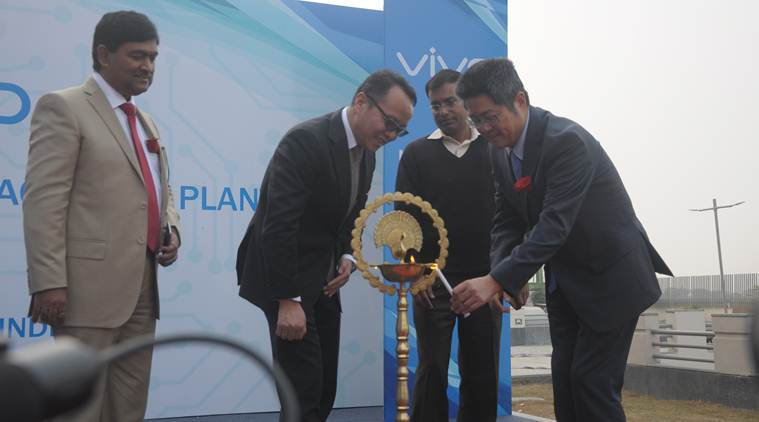 Vivo Mobile India's manufacturing unit was inaugurated by Chinese Ambassador to India Le Yechung and Vivo Mobile India CEO Alex Feng